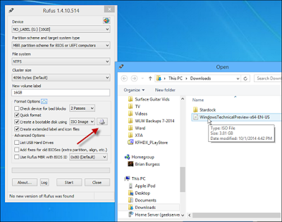 Setting rufus membuat usb instalasi windows