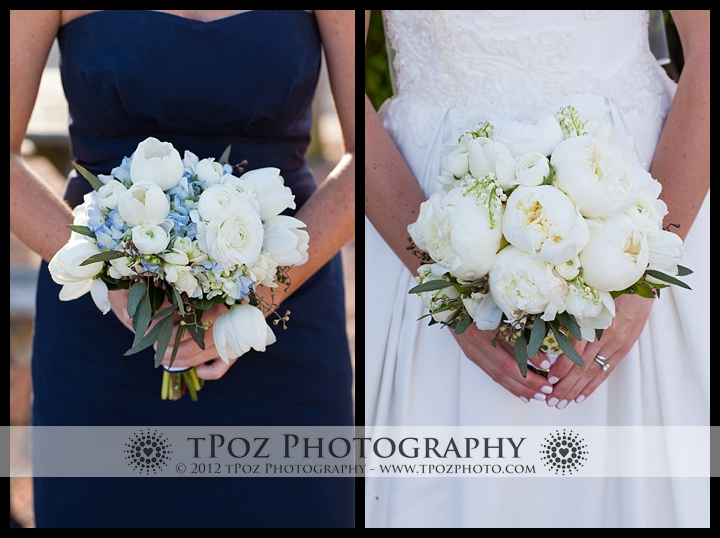 Bouquets from an Annapolis Wedding