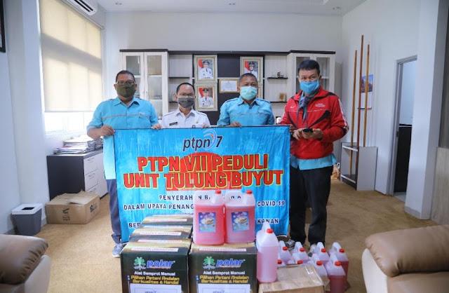 Pemkab Way Kanan Terima Bantuan dari PTPN VII PEDULI