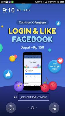 Misi Login dan Like Facebook