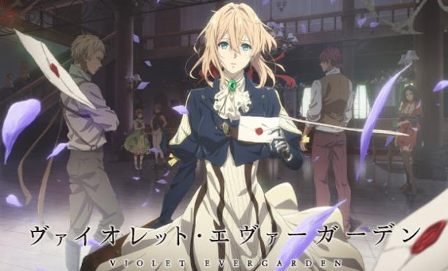 Violet Evergarden - Daftar Anime Fantasy Terbaik Sepanjang Masa