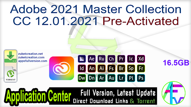 Adobe 2021 Master Collection CC 12.01.2021 Pre-Activated