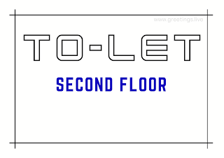 Tolet board second floor A4 Size images free download