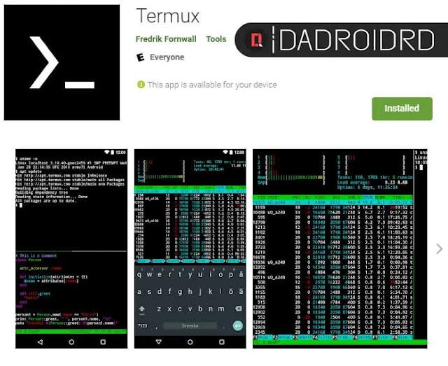 Cara menjalankan fungsi dan fitur CMD / Terminal disemua Smartphone Android