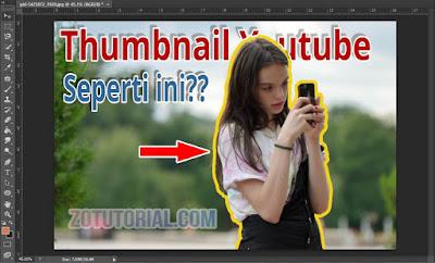 Membuat Garis Mengelilingi Foto di Photoshop Untuk Thumbnail Youtube Keren