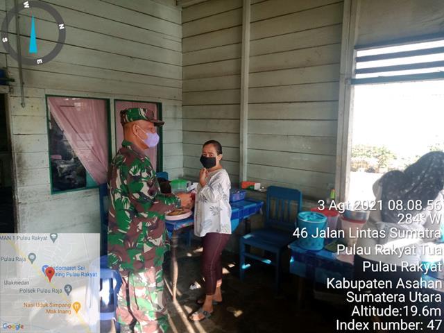 Sosialisasi Kepada Warga Binaan Dalam Rangka Pendisiplinan Adaptasi Kebiasaan Baru Dilakukan Personel Jajaran Kodim 0208/Asahan