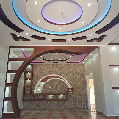decoration arc en platre + decor plasma+ plafonds