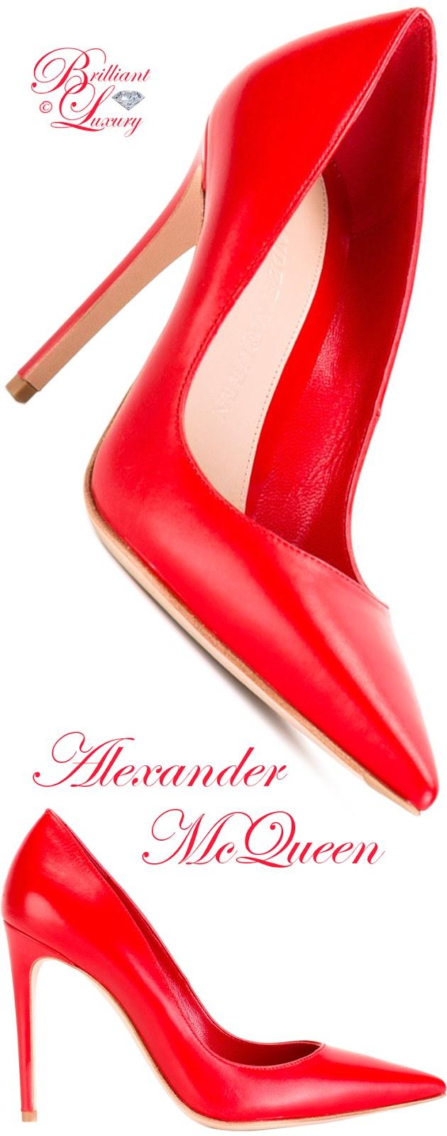Brilliant Luxury ♦ Alexander McQueen Decolette Pumps