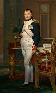 The Emperor Napoleon in his study at the Tuileries, c. 1812. By Jacques-Louis David