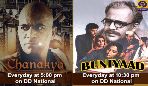 Chanakya, Buniyaad, timing changed on DD National
