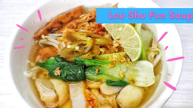 Resepi Lou shu fun soup atau Sup Laksa Pendek