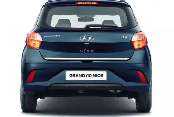 All new Hyundai Grand i10 Nios Rear view