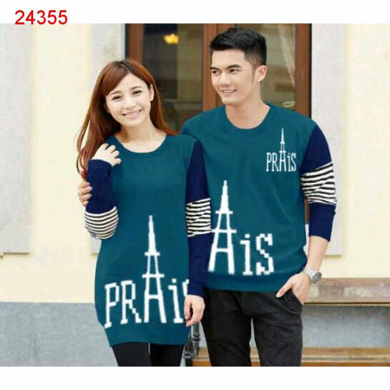 Jual Couple Lengan Panjang Paris Prais Tosca - 24355