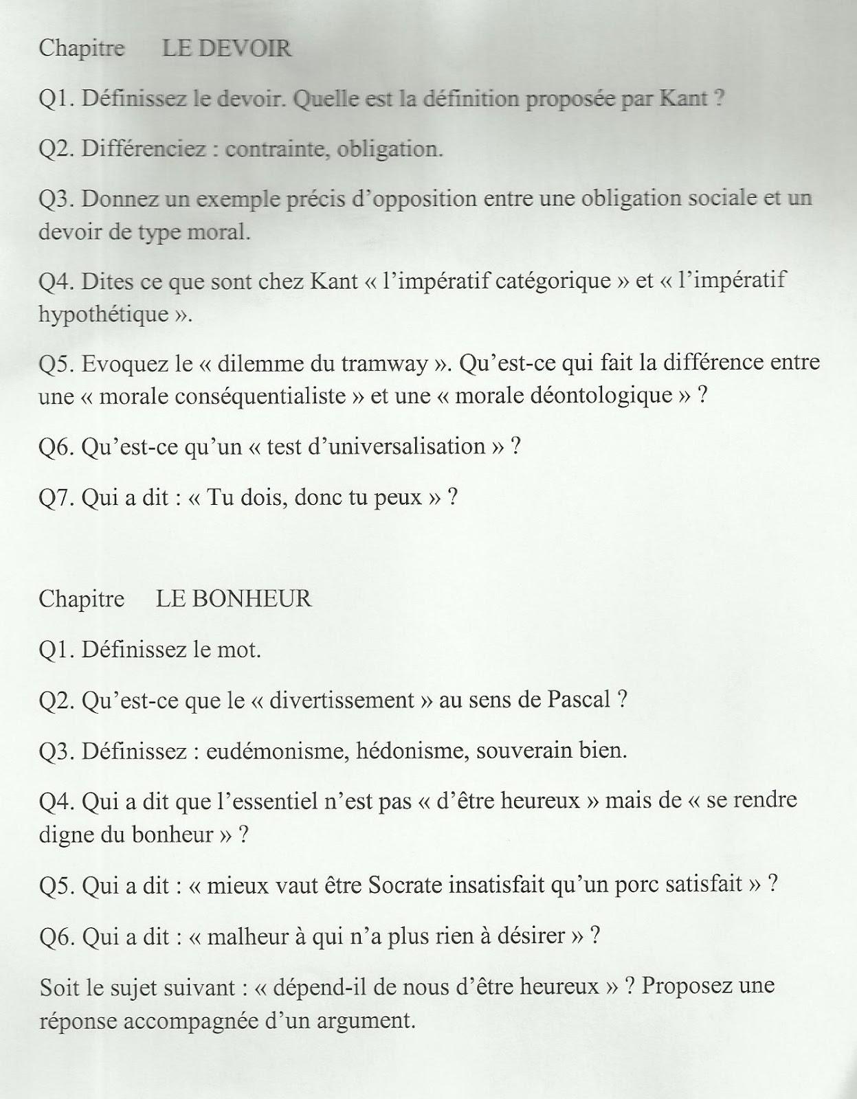 Dissertations de philo :