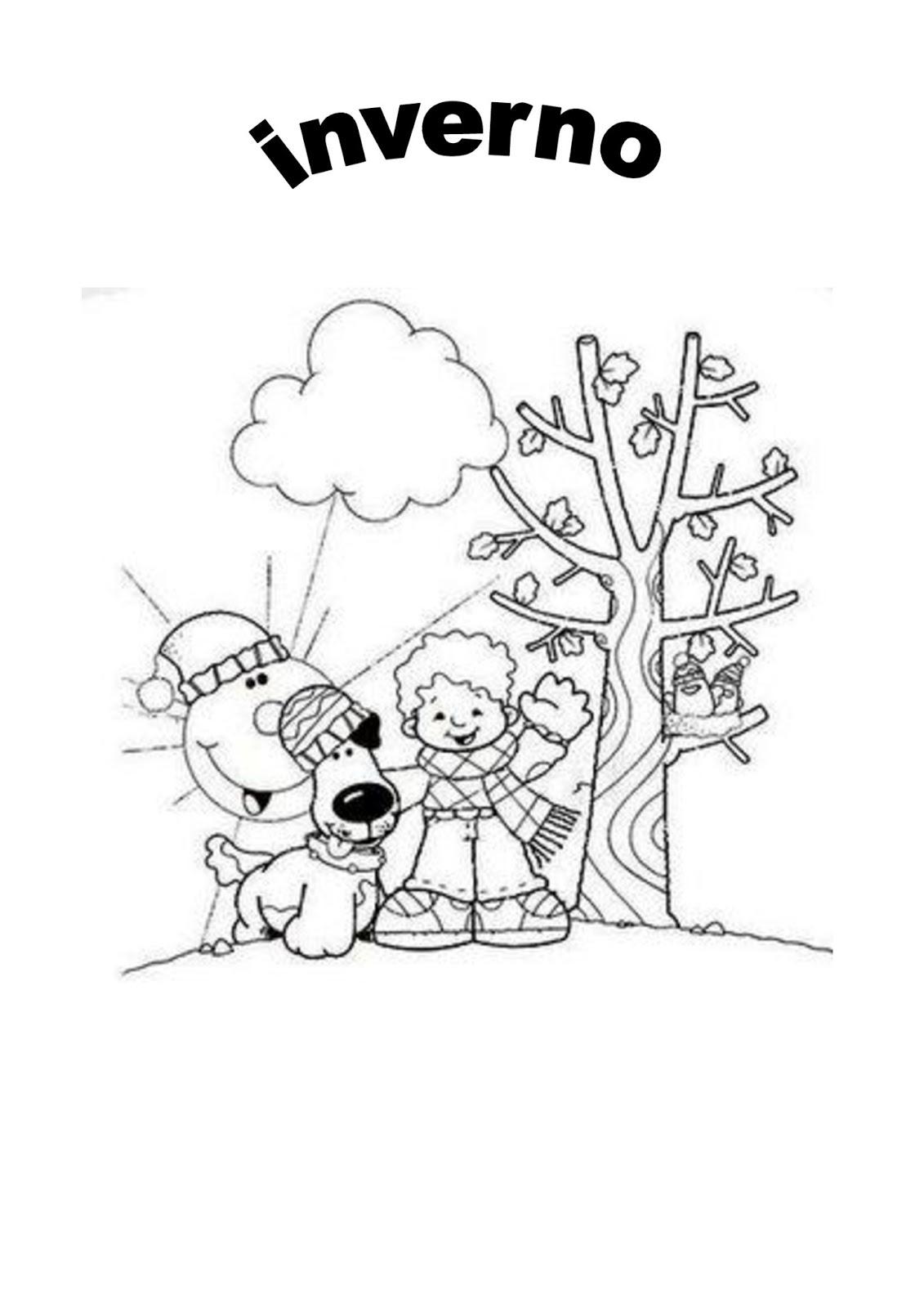 #colorear #números #pintar #dibujar #imprimirypintar #dibujoimagenes.com. Imagens de Inverno para colorir. - Aprender e Brincar
