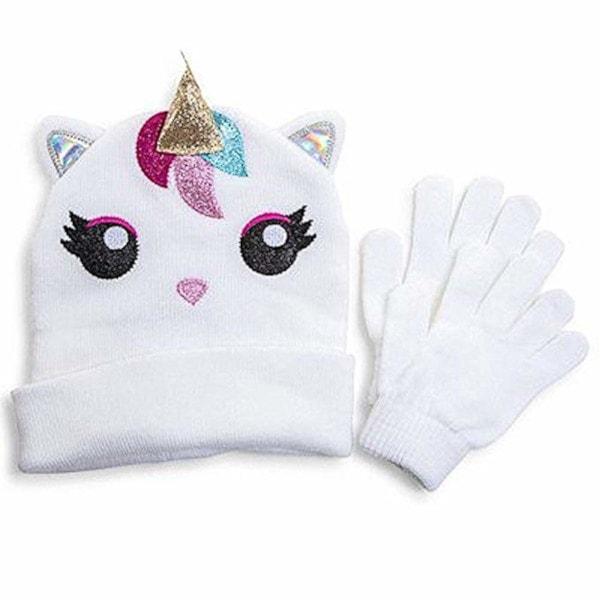 Unicorn Hat and Gloves Set Girls