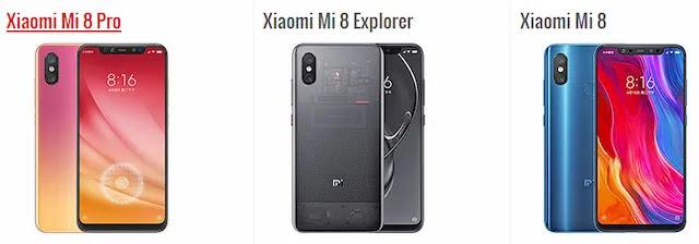 ما هو الفرق بين هاتف شاومي Xiaomi Mi 8 و Xiaomi Mi 8 Pro ؟