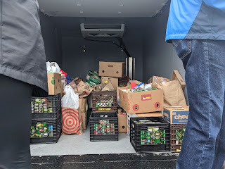 part of the 2,000 pounds gathered for the Franklin Food Pantry
