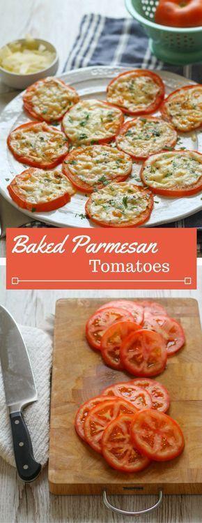 BAKED PARMESAN TOMATOES #baked #parmesan #tomatoes #veggies #vegetables #vegetarianrecipes #veganrecipes