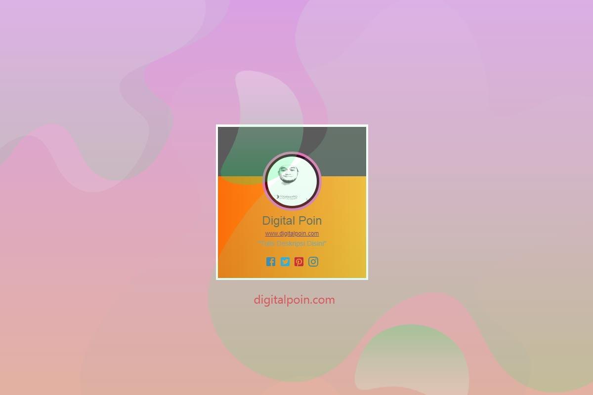 Cara Membuat Widget Profile Box Dengan CSS Tanpa Font Awesome