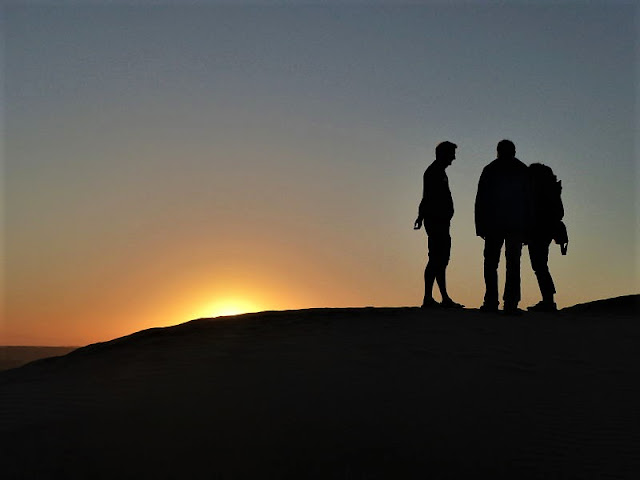 deserto Oman all'alba
