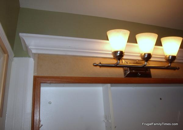 medicine cabinet makeover lighting
