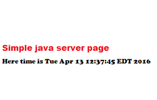 java server page program