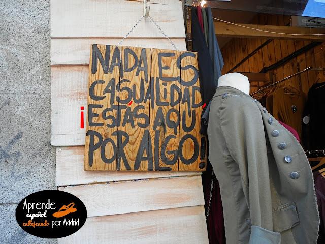 Aprende español callejeando por Madrid: Algo, todo, nada