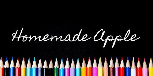 Download Font Edisi Februari 2017 - Homemade Apple Font