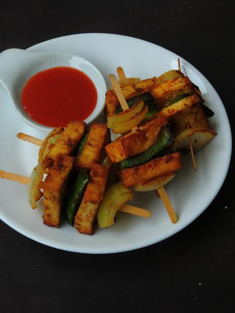 Spiced Tofu Kebab,Tofu 65 Kebab