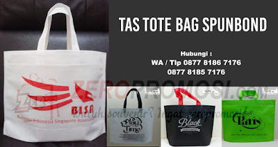 Tote bag spunbond, Totebag sablon, Goodie bag Spunbond, Tas Spunbond Ramah Lingkungan Go Green, Goodie Tote Bag Belanja Shop