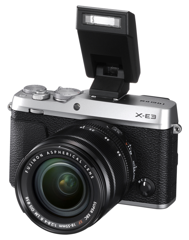 X-E3 with XF 18 to 55 and flash!
