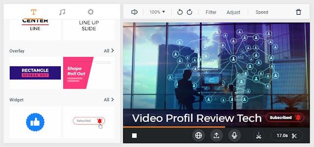 membuat video online FlexClip video Maker