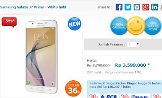 Harga Samsung Galaxy J7 Prime diskon 5%