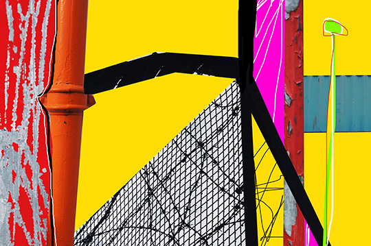 urban abstract, urban photography, digital painting, mixed media, Abstract Expressionism, expressionism, Sam Freek,