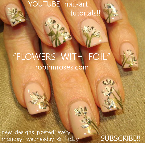 Cuban French Nail Louis Vuitton Art Design Pink And White Flower Deco Black