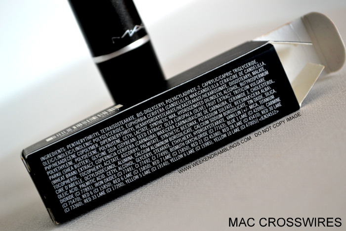 MAC Cremesheen Lipstick Crosswires - Ingredients