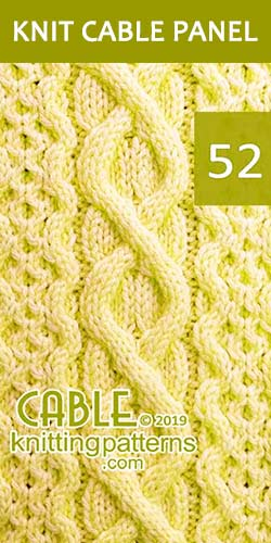 Knit Cable Panel Pattern 52, its FREE