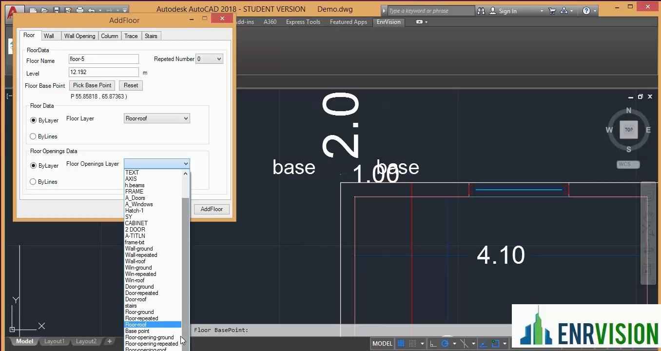 Fußboden In Revit ~ Enr3d generierung konvertieren von 2d autocad objekten in 3d revit