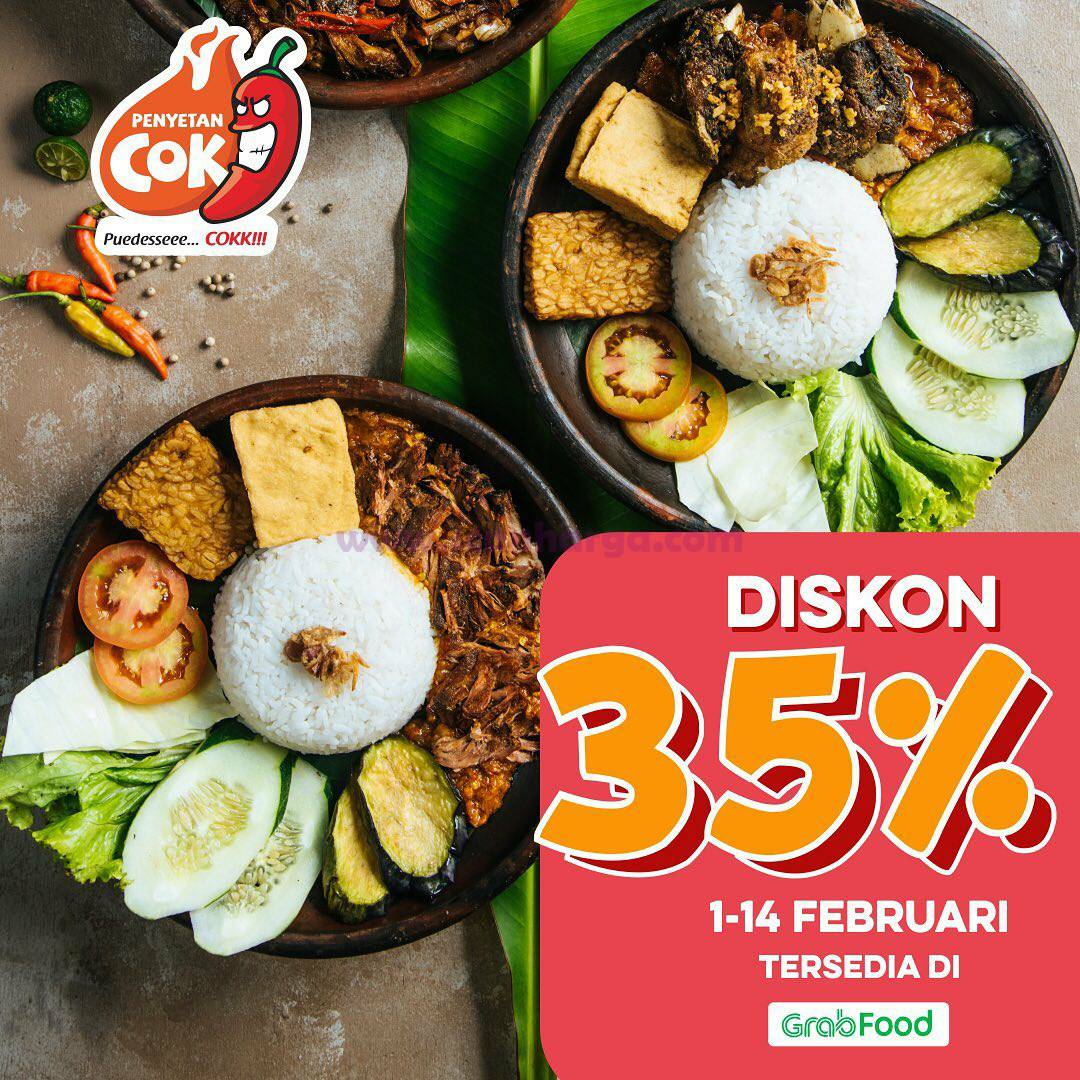 PENYETAN COK Spesial Promo GRABFOOD DISKON 35%