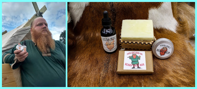 Vendor of Renaissance festivals offering all-natural handmade beard and hair care products