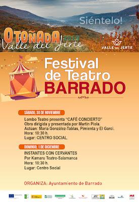Festival de Teatro. 30 de noviembre - 1 diciembre en Barrado