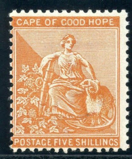 Cape of Good Hope 1887 QV 5s orange