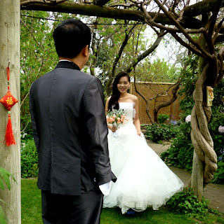 Jenny and Mars flew from China to marry in the Heart Garden