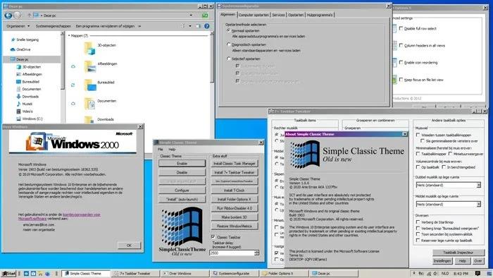 أفضل ثيمات Windows 10 Winclassic