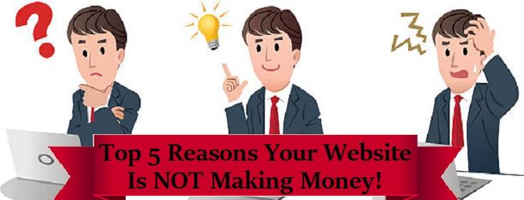 website not making money