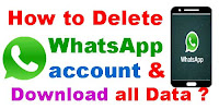 How to Delete WhatsApp account and download all data?