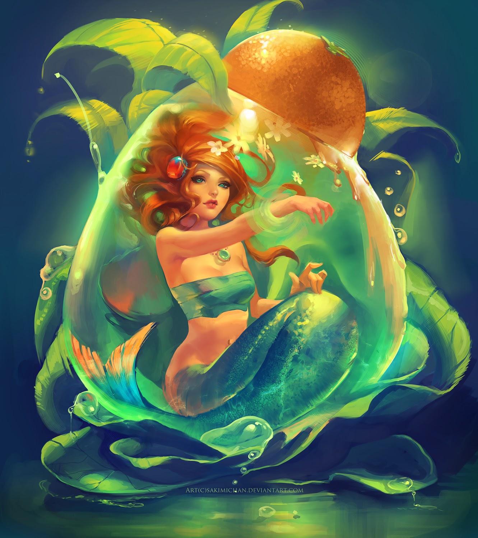 Mermaid moon fantasy widescreen hd wallpaper - beautiful ...