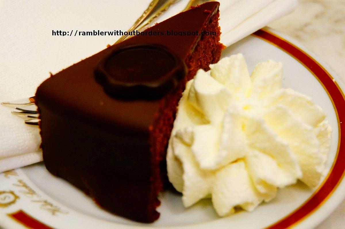 Sacher torte cake, Vienna