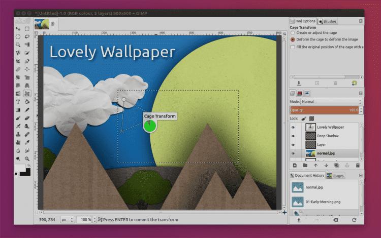 Editor de fotos do GIMP